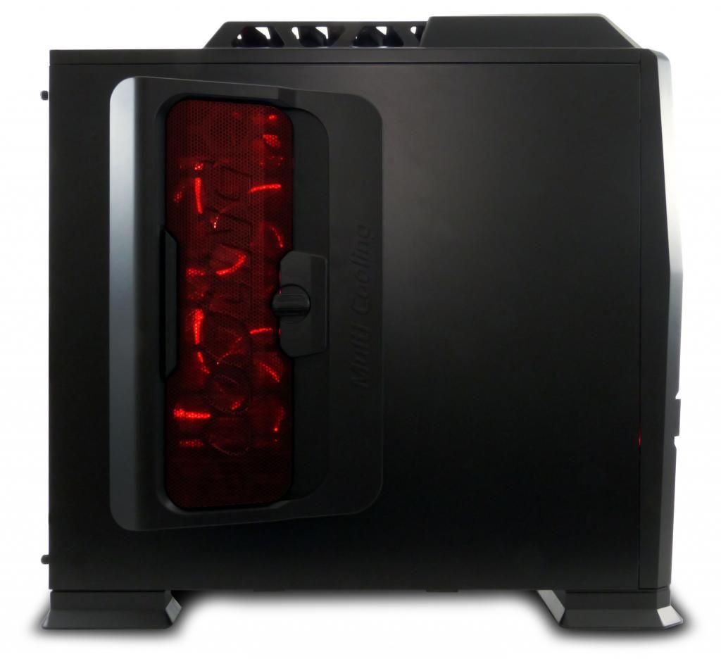 GABINETE GAMER PIXXO CG-9801B LED VERMELHO