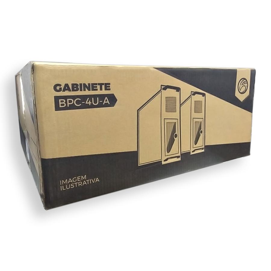 Gabinete Rack 4 U M-445-F Preto 450MM F-New