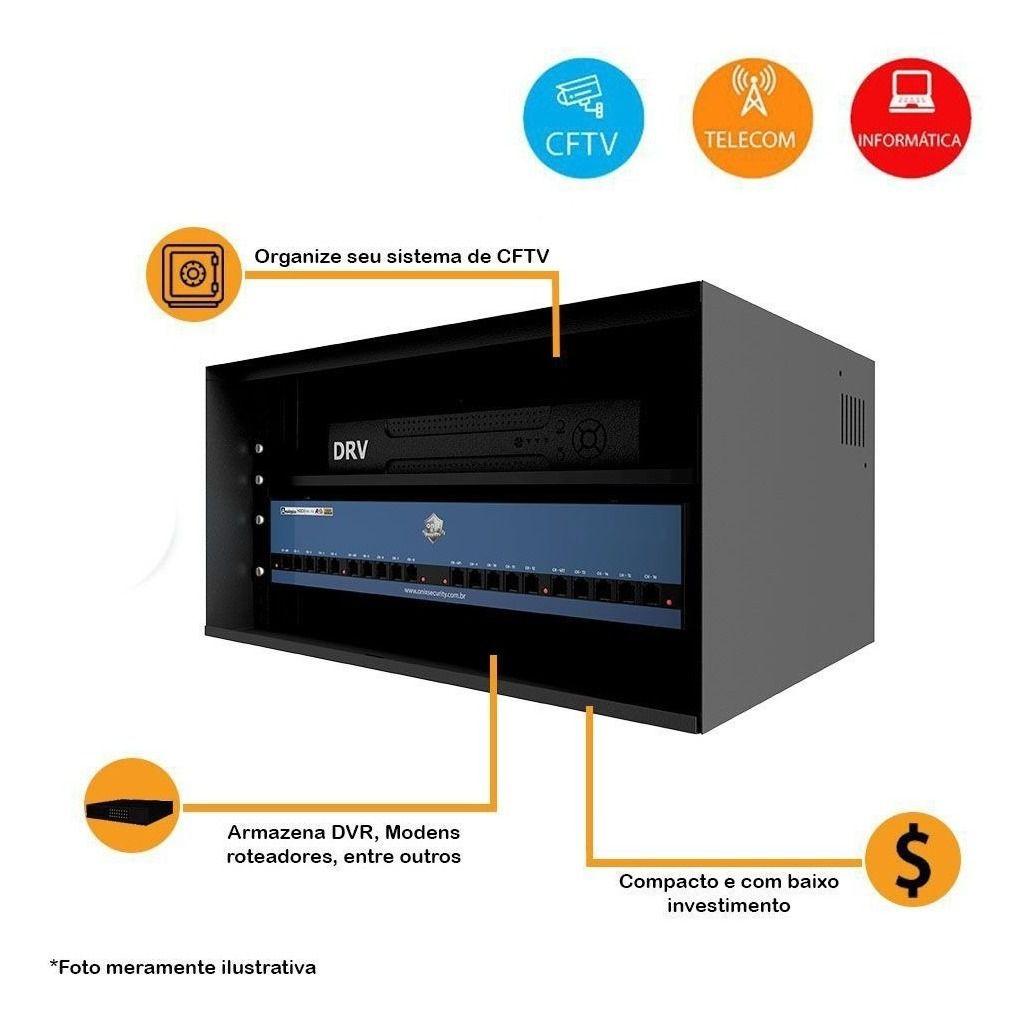 Gabinete Rack Mini Organizador 5u 19? Onix Security