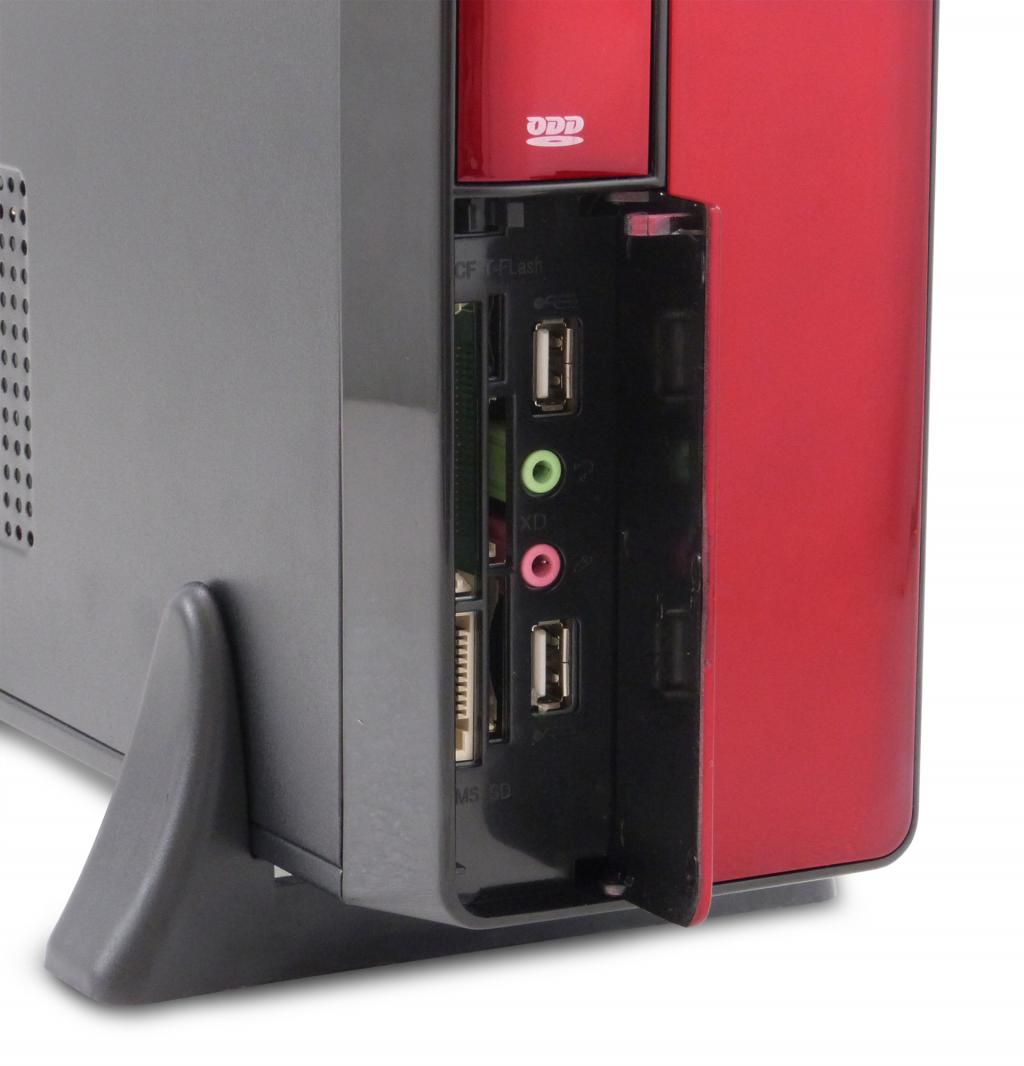 Gabinete Slim Ht-8102E 010S Vermelho Pixxo