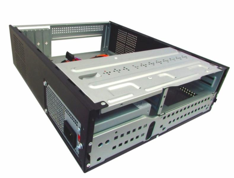 Gabinete Slim Micro ATX Black Piano com Fonte GM-07T7 K-Mex