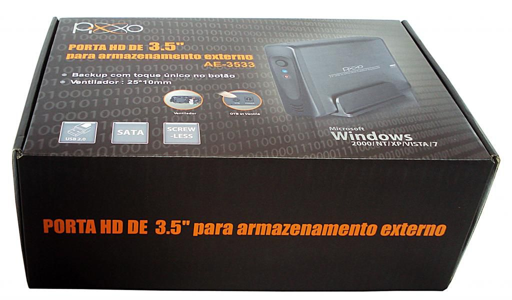 GAVETA PARA HD 3,5 SATA AE AE3533SBPX PRATA