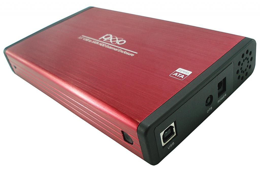 GAVETA PARA HD 3,5 SATA AE AE3533SBPX VERMELHO