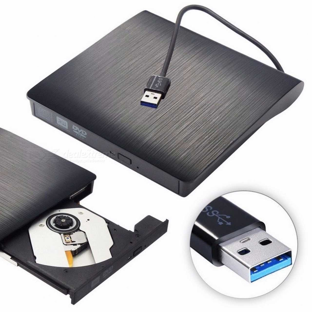 GRAVADOR DE DVD EXTERNO SLIM F-NEW LEITOR CD DVD PORTATIL