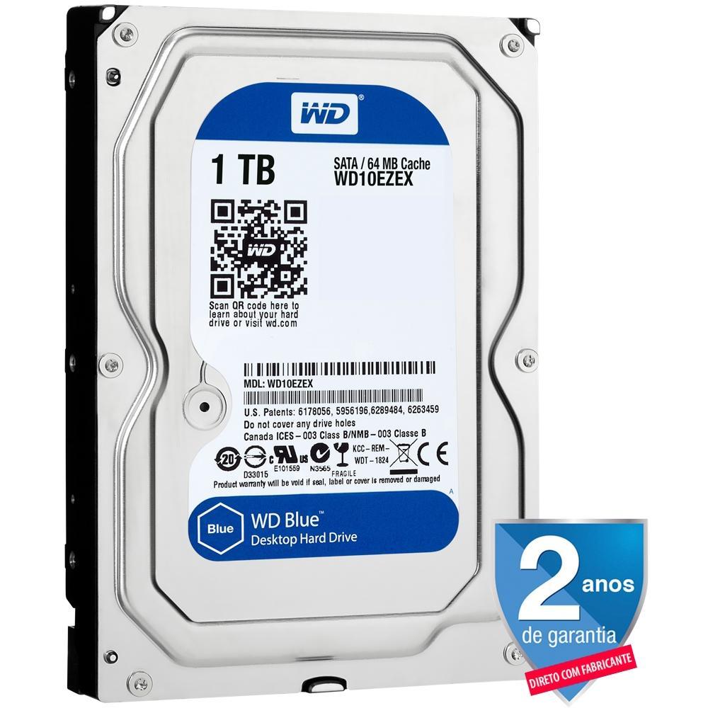 Hd 1tb 3.5 Desktop Wd Blue Sata 3 Wd10ezex Western Digital