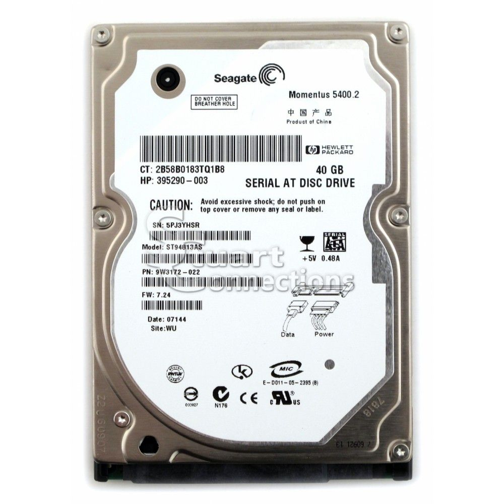HD P/ NOTEBOOK 40GB SATA