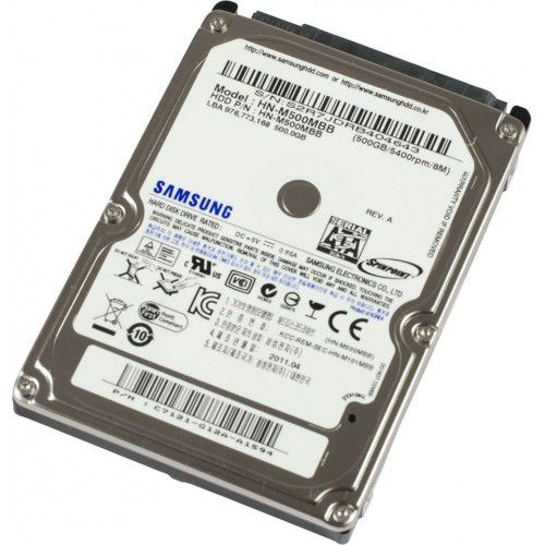 HD p/ Notebook 500GB  Samsung SATA 2.5´ 5400RPM