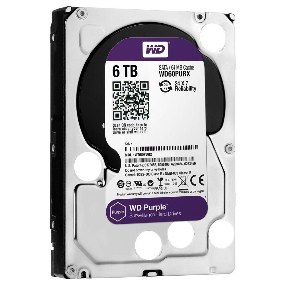 Hd Sata 6000 GB Western Digital Purple 6 Tera