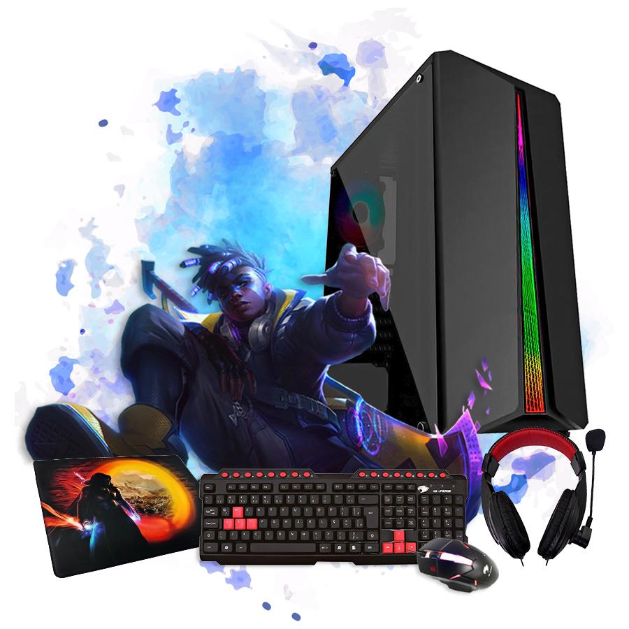 Kit Gamer Completo Pixxo Gabinete RGB c/ Fone Teclado Mouse