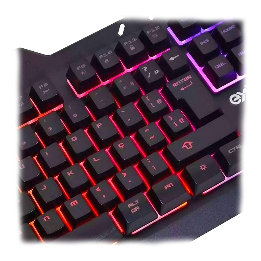 Kit Gaming Teclado Metal Com Mouse Led Rgb Bk-G800