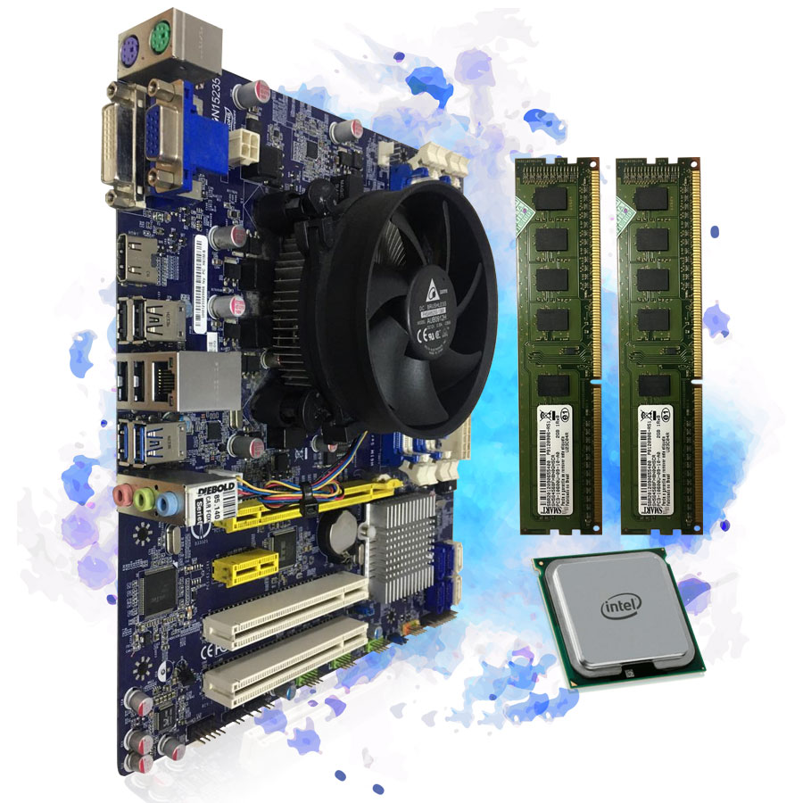 Kit Placa Mãe Pentium G870 + Memoria 4gb + Cooler Semi Novo