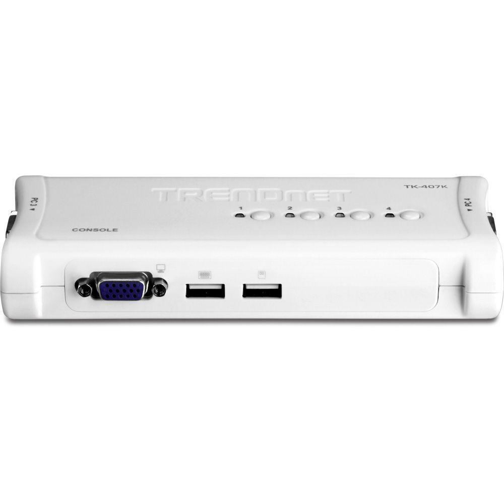 KVM 4 PORTAS USB C/ 4 CABOS TK-407K TRENDNET