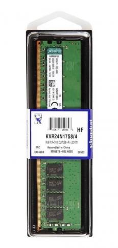 Memória RAM 4GB 1x4GB KVR24N17S8/4 ValueRAM Kingston