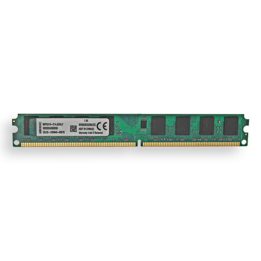 Memória Ram Kingston Ddr2 2gb 800 Mhz KVR800D2N6/2G