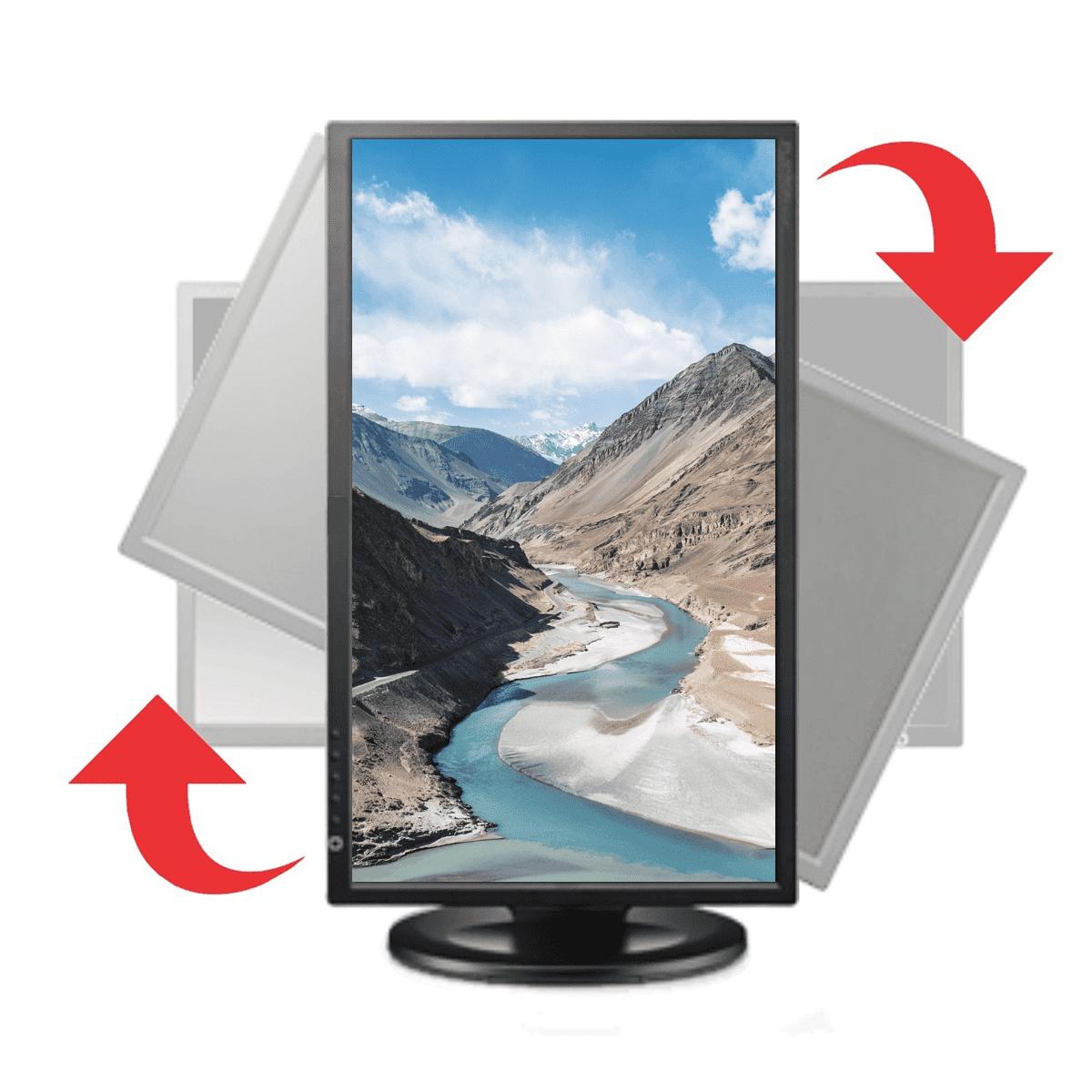 """Monitor 18,5"""" LCD Itautec com Ajuste de Altura e Rotativo W1946PW"""