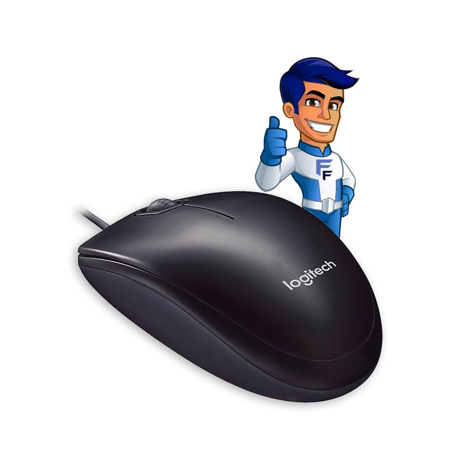 Mouse Com Fio USB Logitech M90 Preto