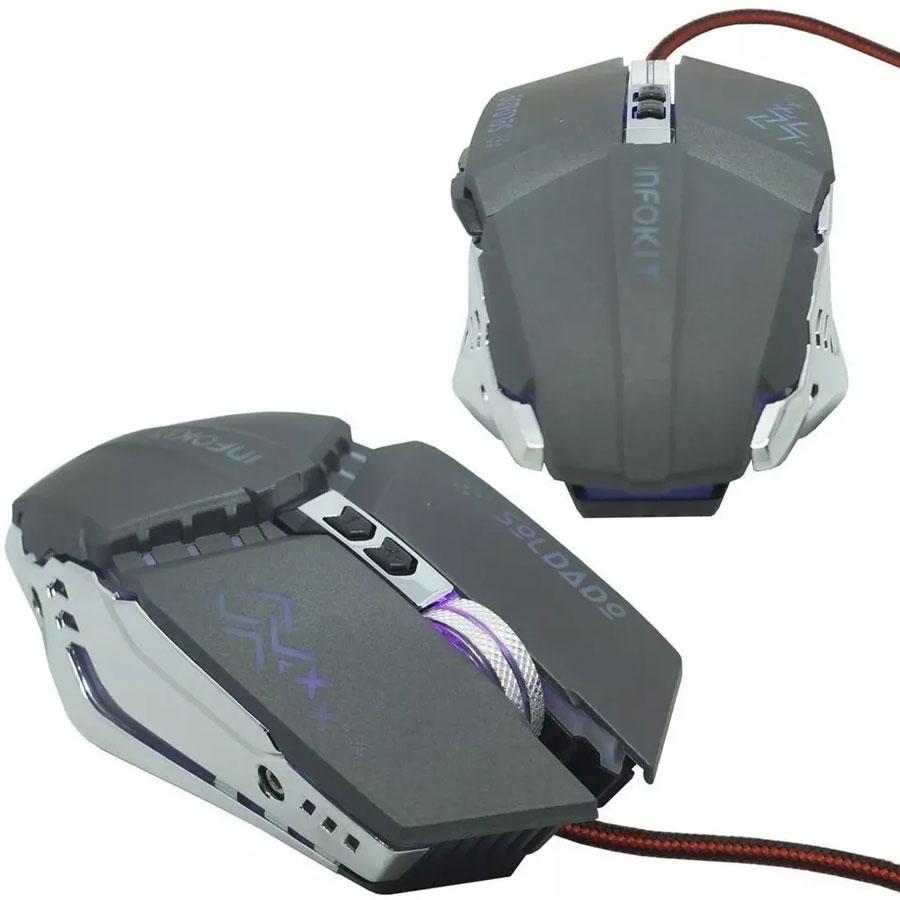 Mouse Gamer Xsoldado Com Led Infokit Usb Gm-705