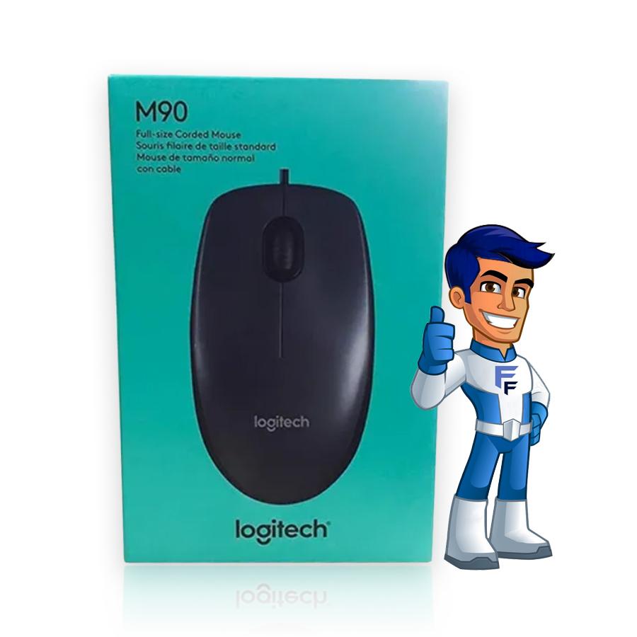 Mouse Logitech M90 Optico USB Preto