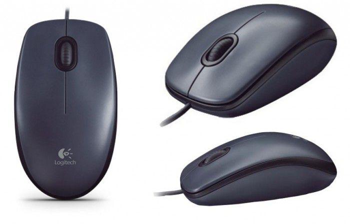 Mouse Óptico Logitech USB M90 Preto