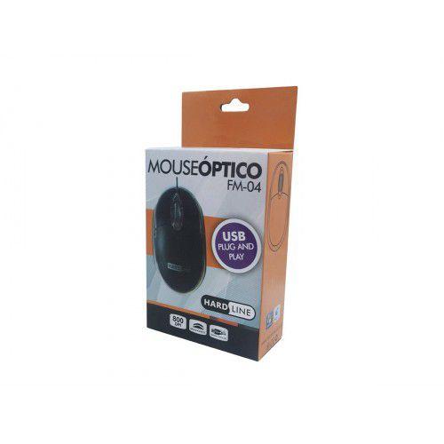 MOUSE USB HARDLINE FM-04 PRETO