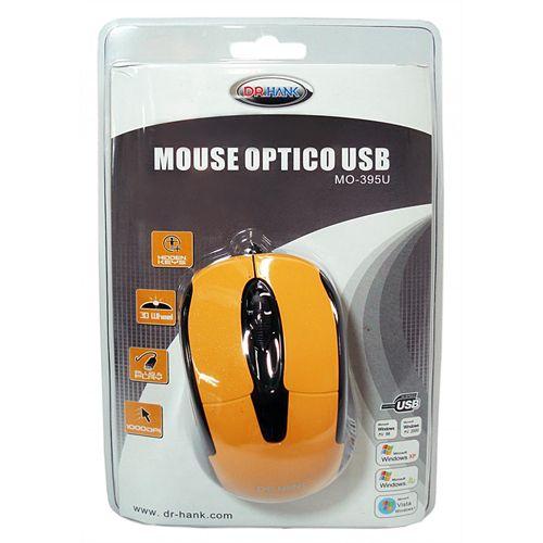 MOUSE USB MO-395U-P1KH LARANJA DR.HANK