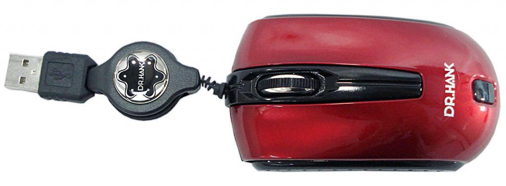 MOUSE USB RETRATIL BLUETECH MO-276RP1KB VERMELHO DR.HANK