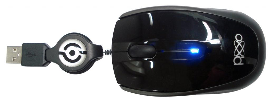 MOUSE USB RETRÁTIL MO-C233UPXB PRETO PIXXO