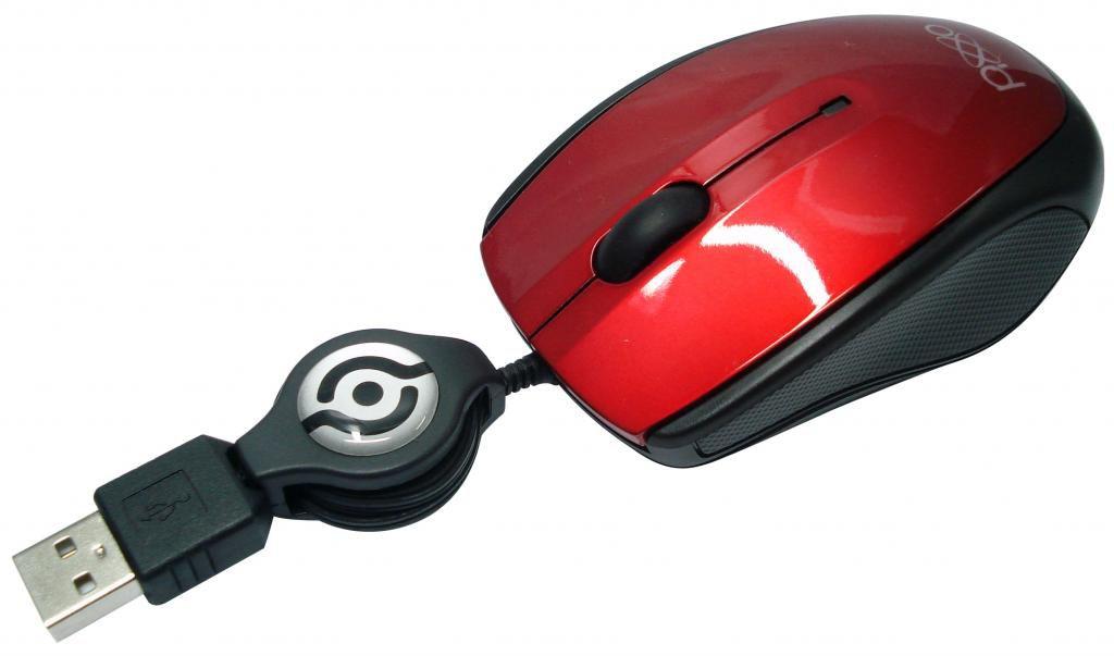 MOUSE USB RETRÁTIL MO-C233UPXE VERMELHO PIXXO