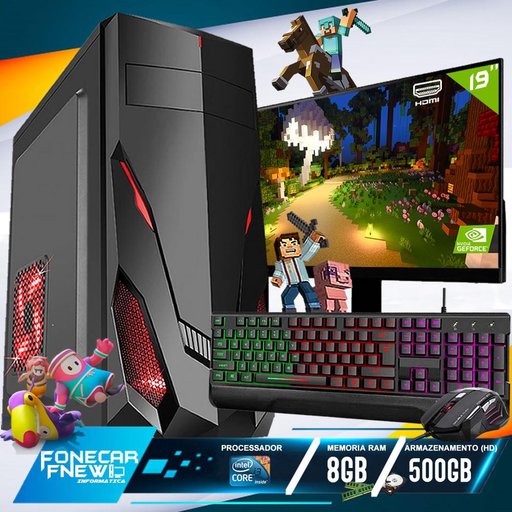 Pc Gamer Completo i3 8gb HD 500 Placa De Video Monitor Wifi