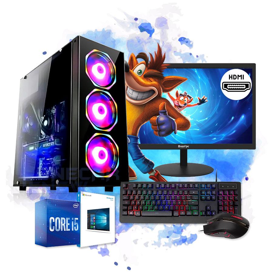 Pc Gamer Completo I5 8gb Hd 500gb Placa de Video Monitor