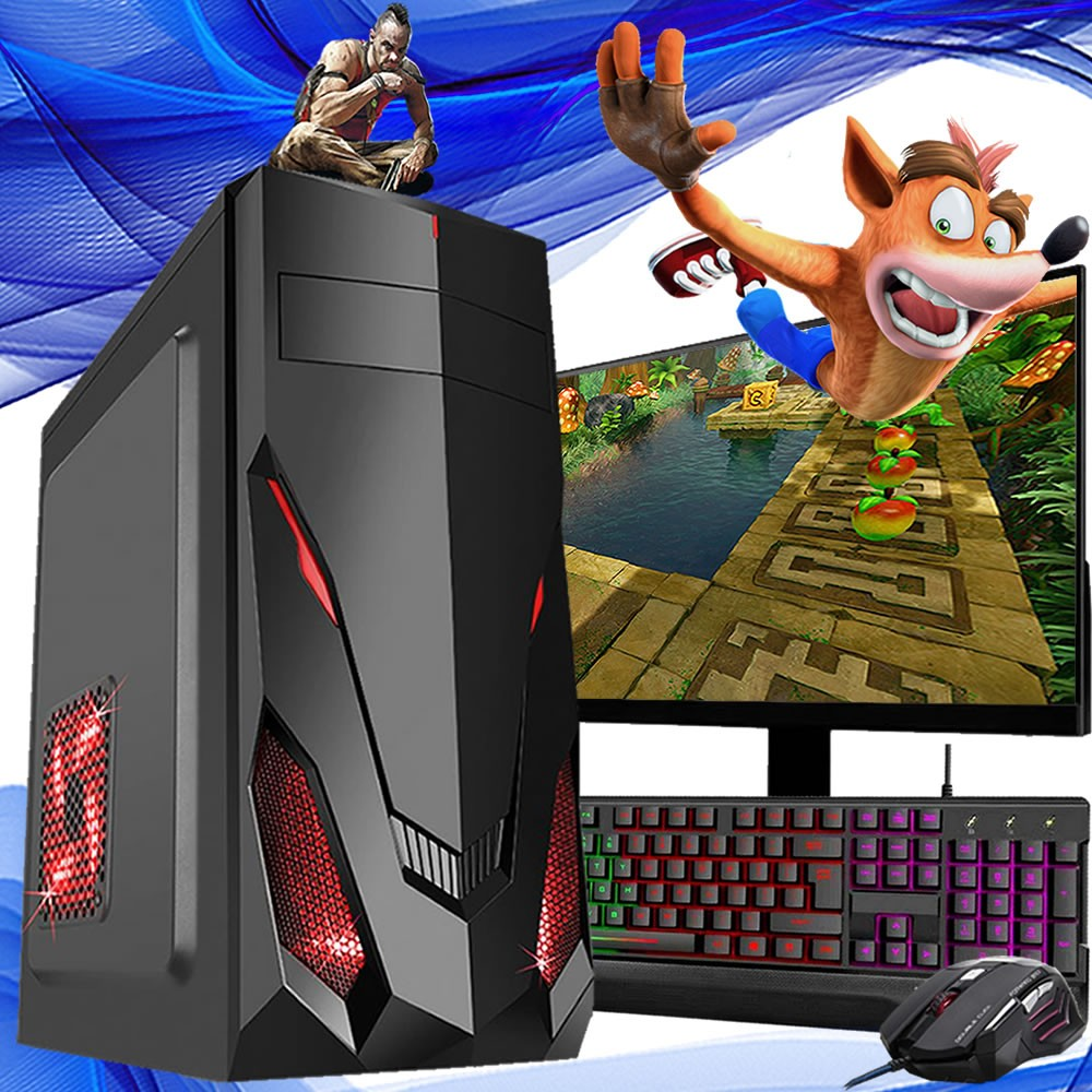 Pc Gamer Completo I5 8gb Ssd 240gb Placa de Video Monitor