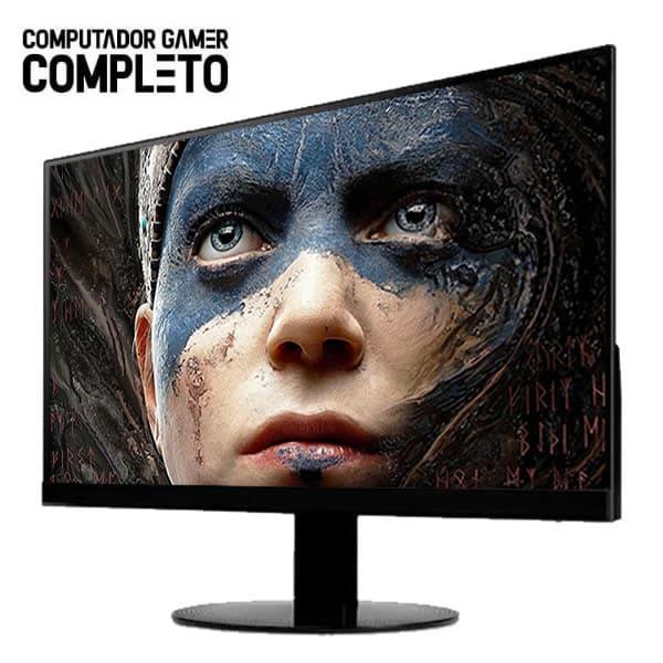 Pc Gamer Completo Intel Core I3 9ª Geração 8gb SSD240 gb 1TB Placa de Video 1650 Monitor