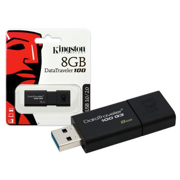 PEN DRIVE - 8GB - KINGSTON DATATRAVELER 100 USB 3.0
