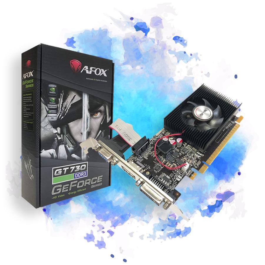 Placa De Vídeo AFOX Nvidia Geforce GT730 4GB DDR3 128BIT