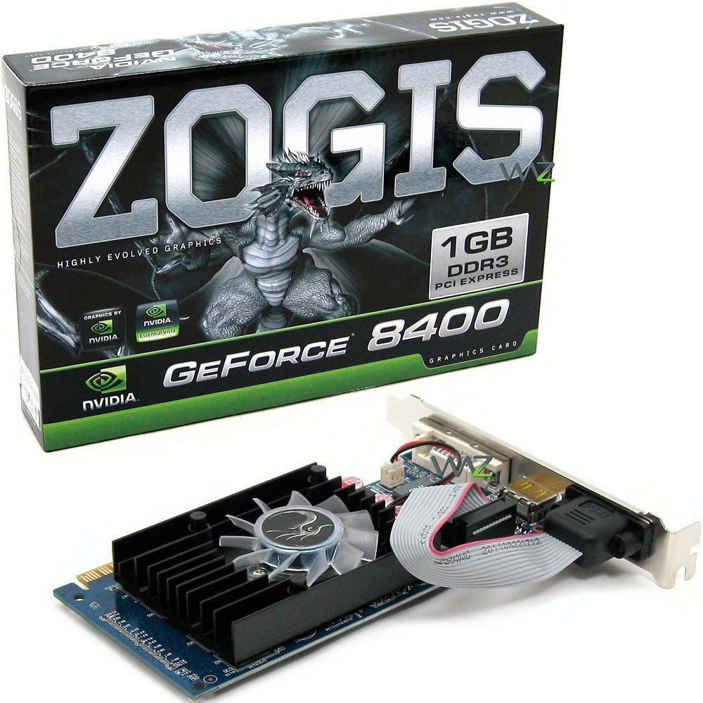 PLACA DE vídeo GF 8400 DDR3 1GB PCI-E ZOGIS