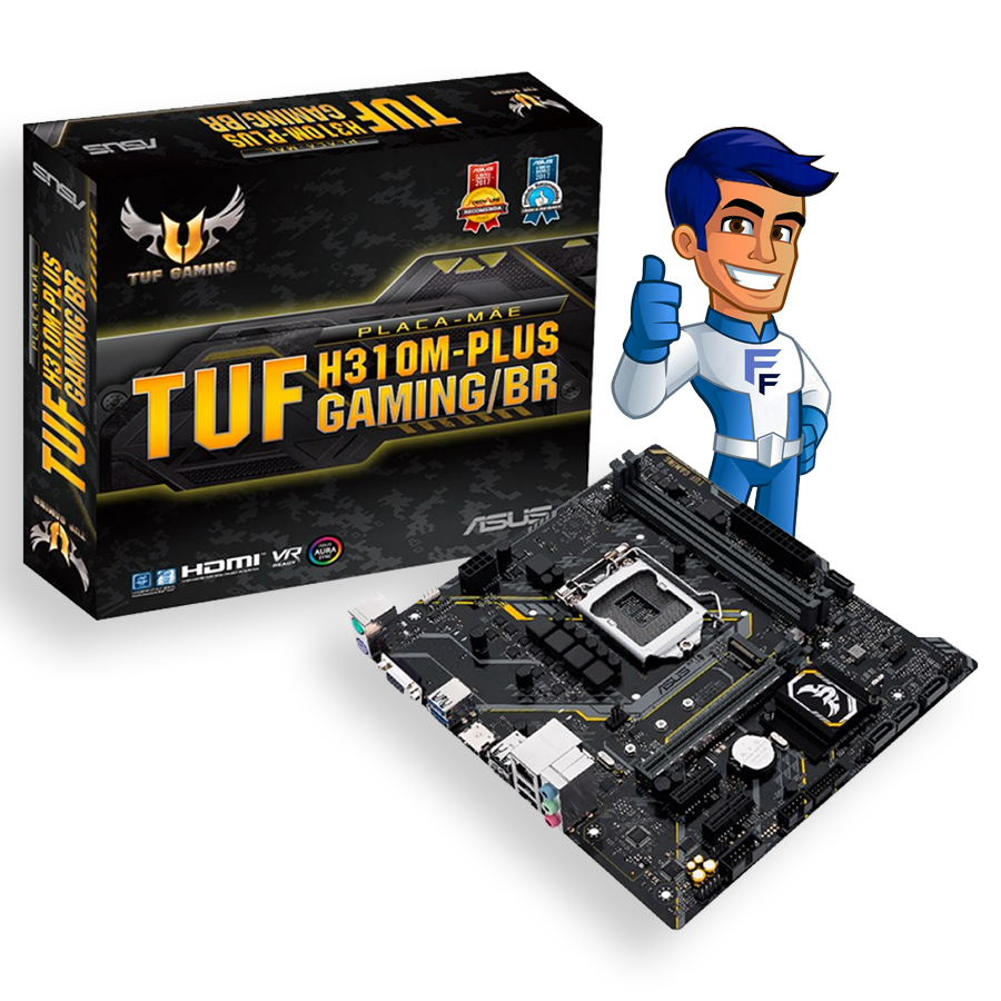 Placa Mãe Asus TUF H310M-Plus Gaming/BR Intel LGA 1151 DDR4
