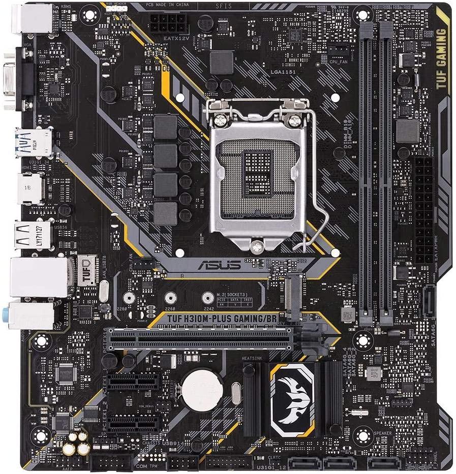 Placa-Mãe Asus TUF H310M-Plus Gaming/BR Intel LGA 1151 DDR4