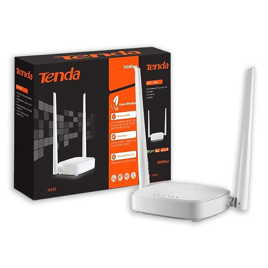 Roteador Tenda N301 Wi-fi 300MBPS 2 Ant. 5dbi