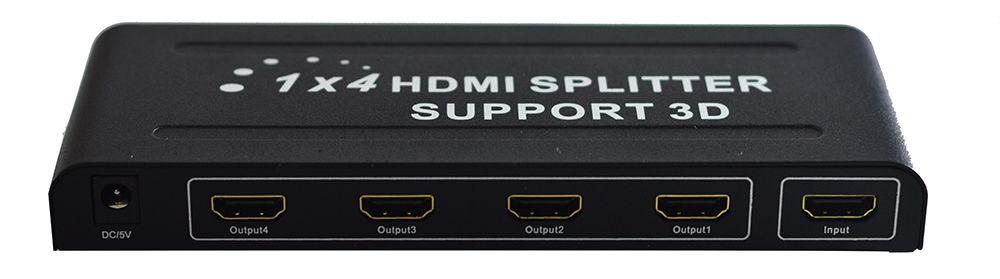 Splitter Distribuidor Hdmi 1x4 Divisor Full Hd 1.4 3d 1080p