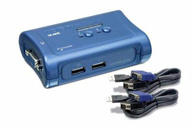 Switch KVM via USB com 2 portas Trendnet TK-207K