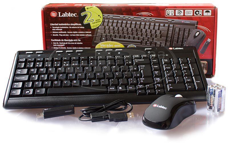 Teclado e Mouse S/Fio Labtec