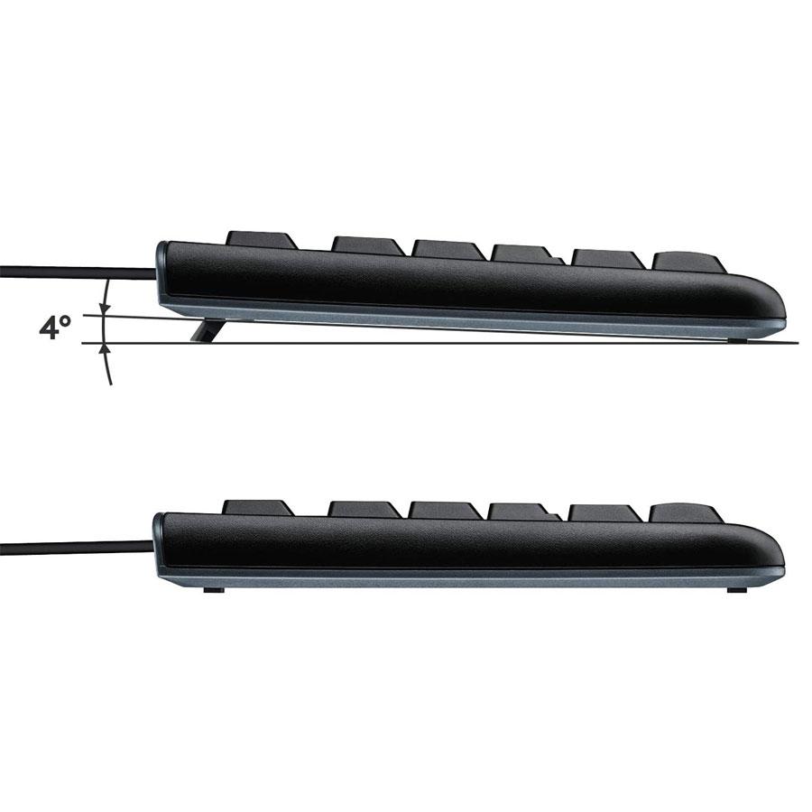 Teclado Logitech com Fio USB K120 Preto Resistente a Àgua