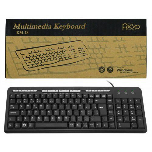 TECLADO MINI PS2 - MULTIMIDIA KM-1828POEM - PIXXO
