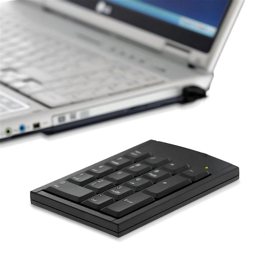 Teclado Usb Numerico Notebook 2.4 Sem fio 20 Teclas KP-2038