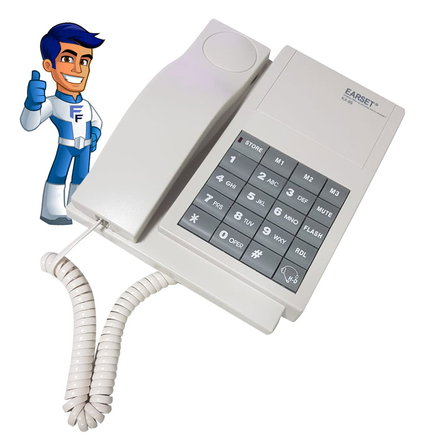 Telefone Earset KX99 com Função Headset HX01 Alca-9319