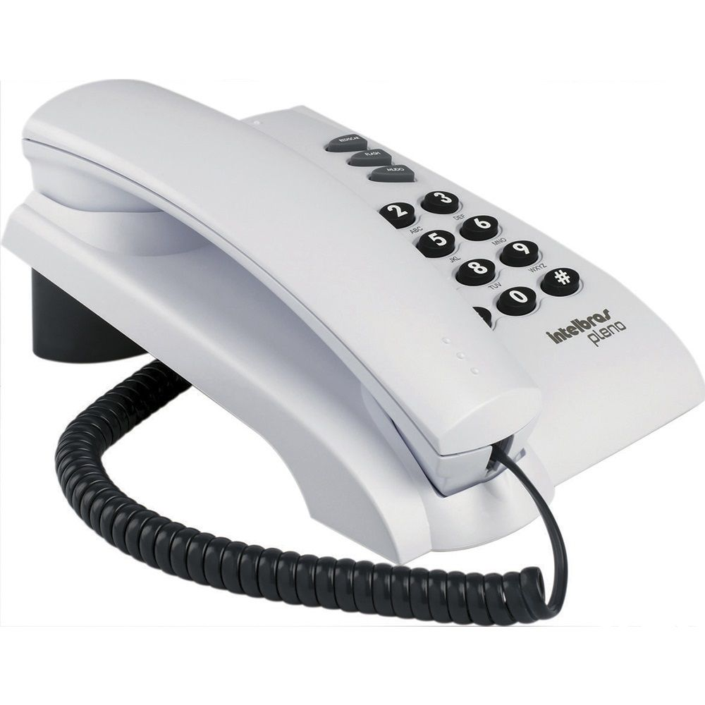TELEFONE PLENO ICON CINZA INTELBRAS