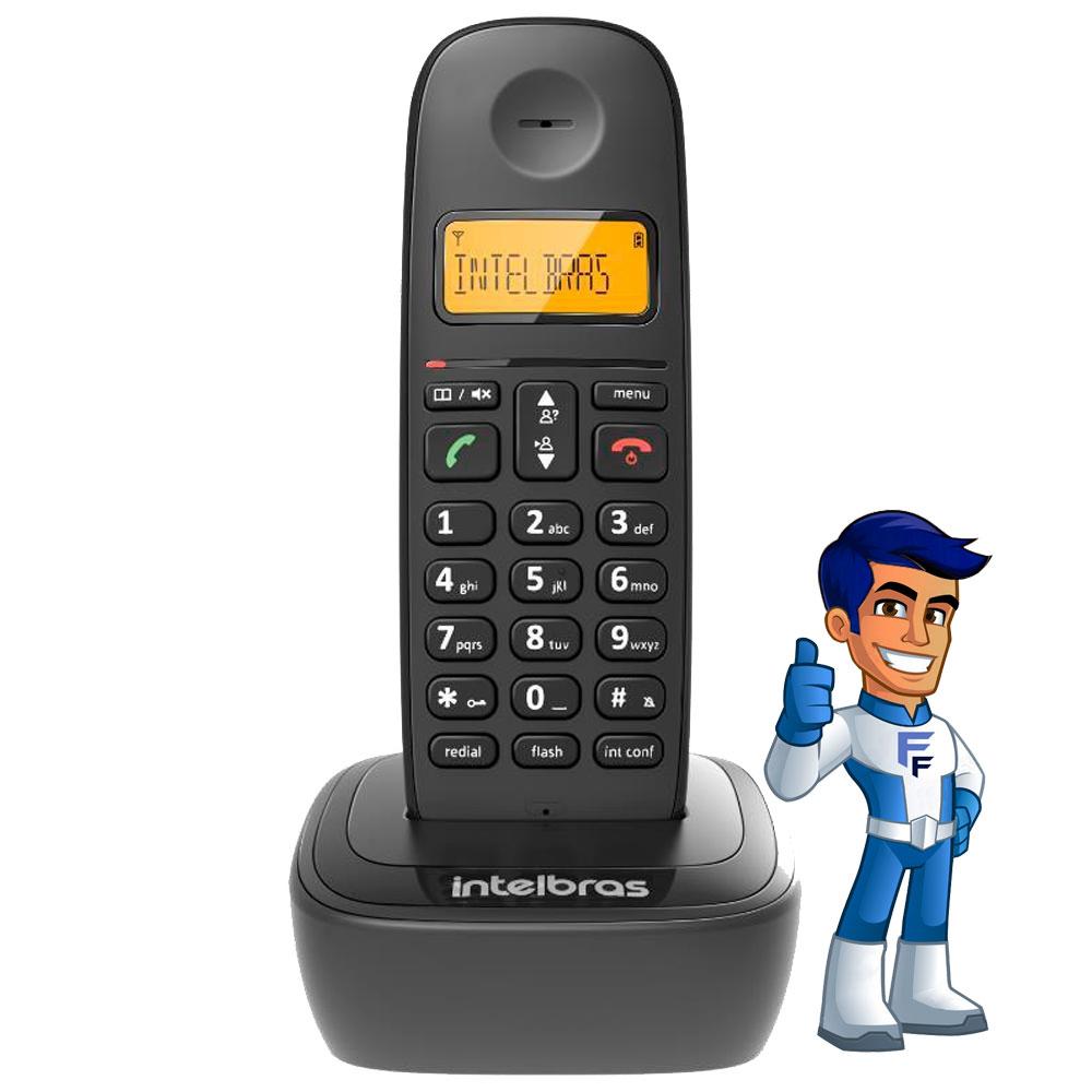 Telefone S/Fio TS-3110 Preto Digital Intelbras