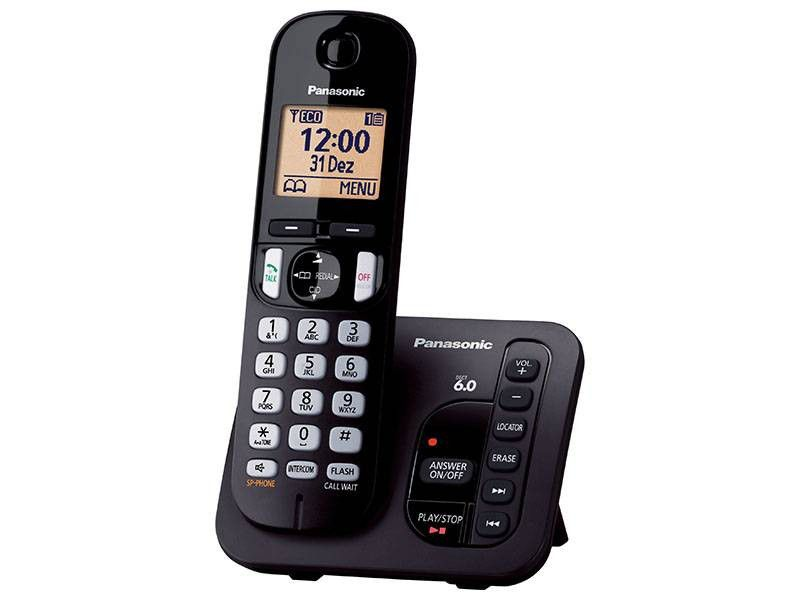 Telefone Sem Fio Panasonic Ident. de Chamadas - KX-TGC220LBB