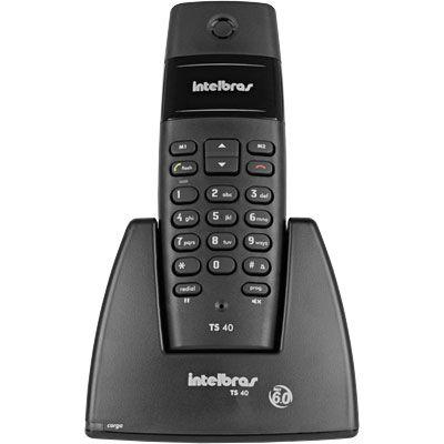 Telefone Sem Fio preto TS40 Intelbras