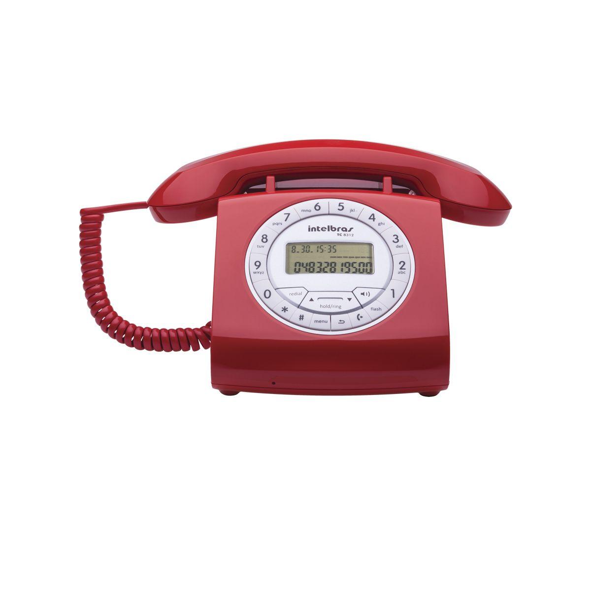 Telefone Tc-8312 Vermelho c/Identificador Intelbras